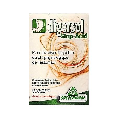 Digersol Stop-Acid 20cps - Acidité gastrique Spécchiasol