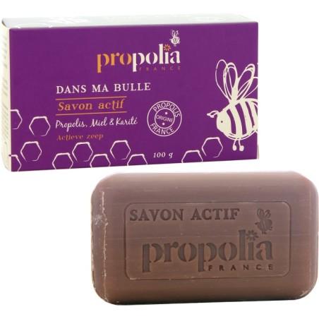 Savon actif Propolis miel - Soin peau Propolia Apimab