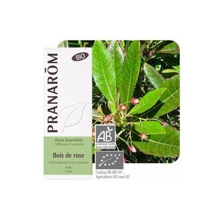 Bois de rose Huile essentielle bio 10ml - Aromathérapie bio Pranarom