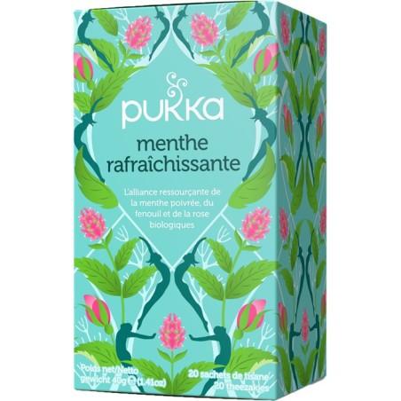 Menta refrescante Té de hierbas ayurvédico orgánico Pukka
