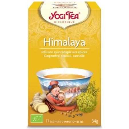 Himalaya chaï bio Infusion ayurvédique 17 infusettes - Yogi tea