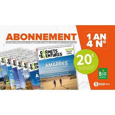 Abonnement 1 an Carnet d'Aventures 20€
